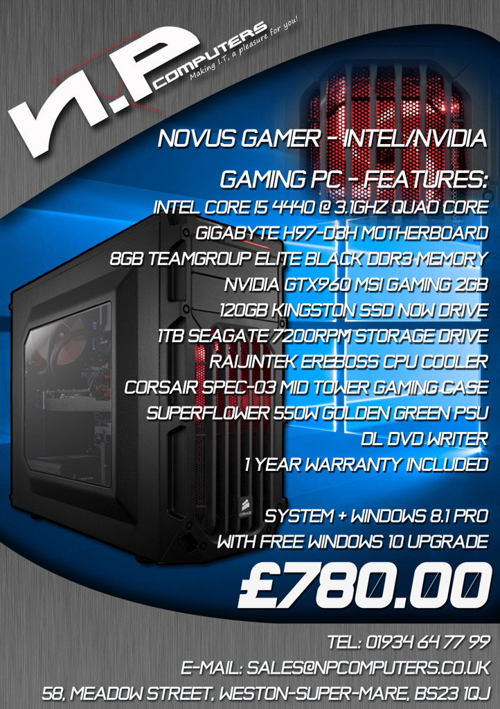 Novus gamer intel nvidia 2015